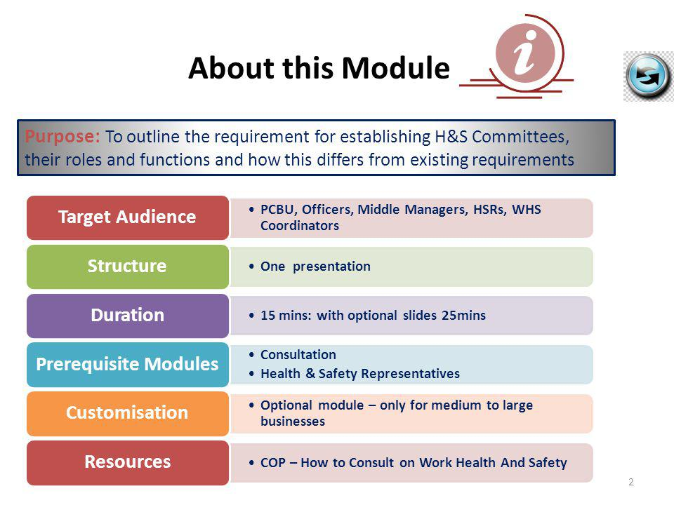 Code of Practice – How to Consult on Work Health & Safety is available in draft form and is currently out for public comment.