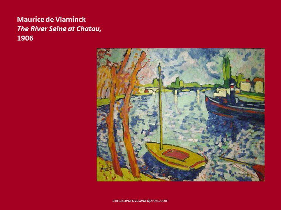 Maurice de Vlaminck The River Seine at Chatou, 1906 annasuvorova.wordpress.com
