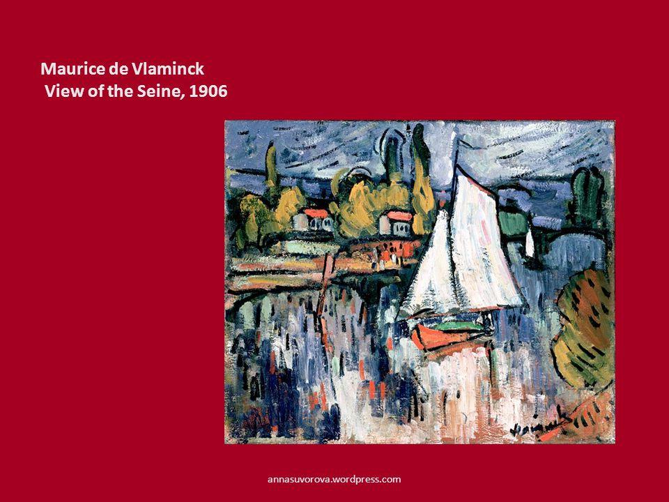 Maurice de Vlaminck View of the Seine, 1906 annasuvorova.wordpress.com