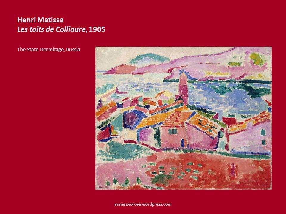 Henri Matisse Les toits de Collioure, 1905 The State Hermitage, Russia annasuvorova.wordpress.com