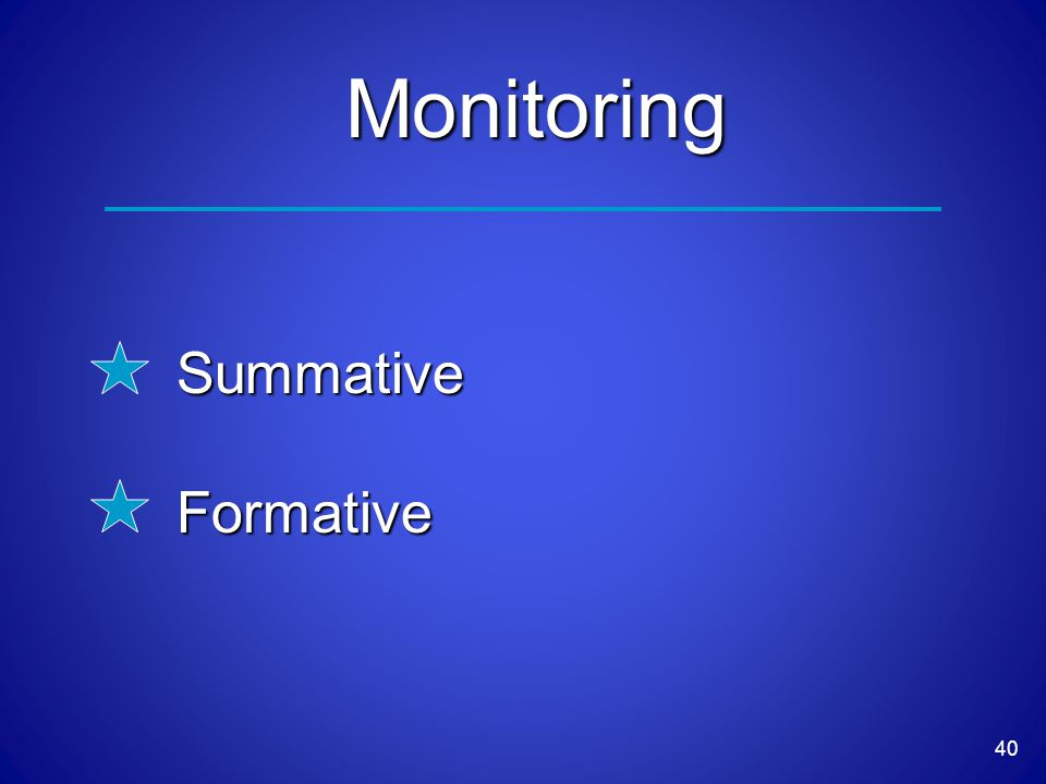 40 Monitoring SummativeFormative