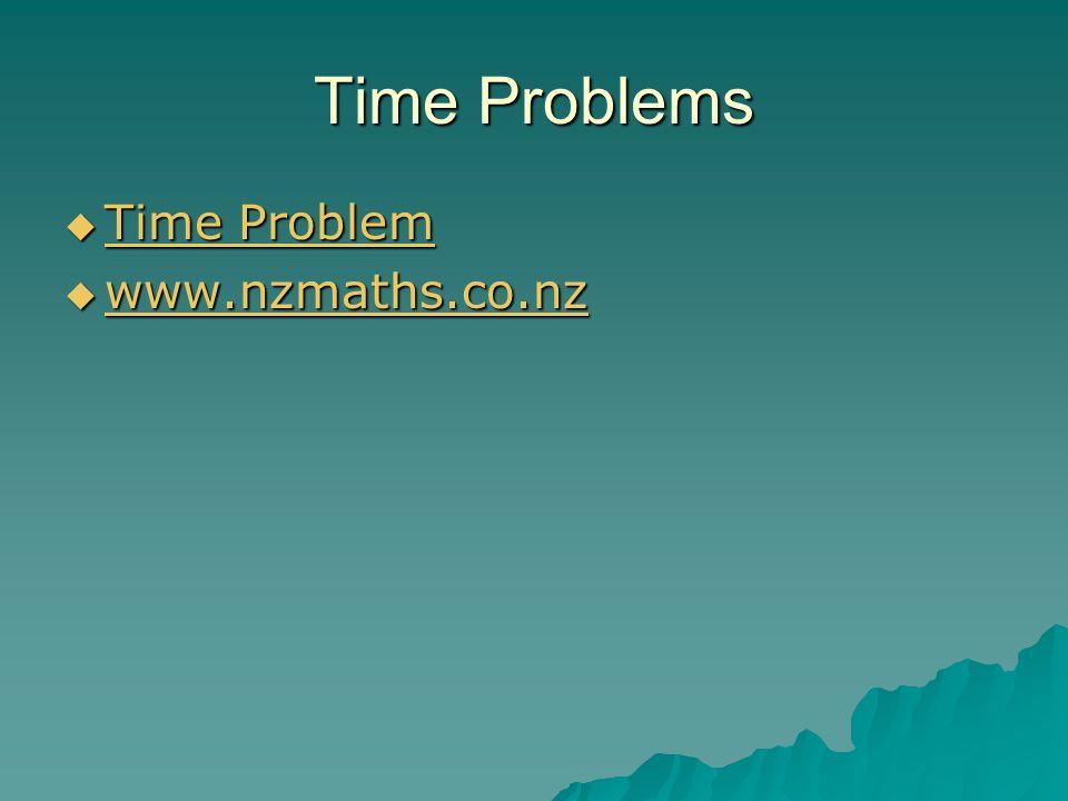 Time Problems  Time Problem Time Problem Time Problem  www.nzmaths.co.nz www.nzmaths.co.nz