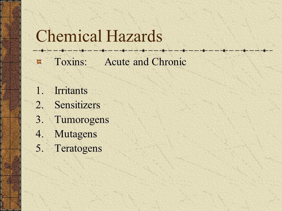 Chemical Hazards Flammable Liquids Corrosives Reactives