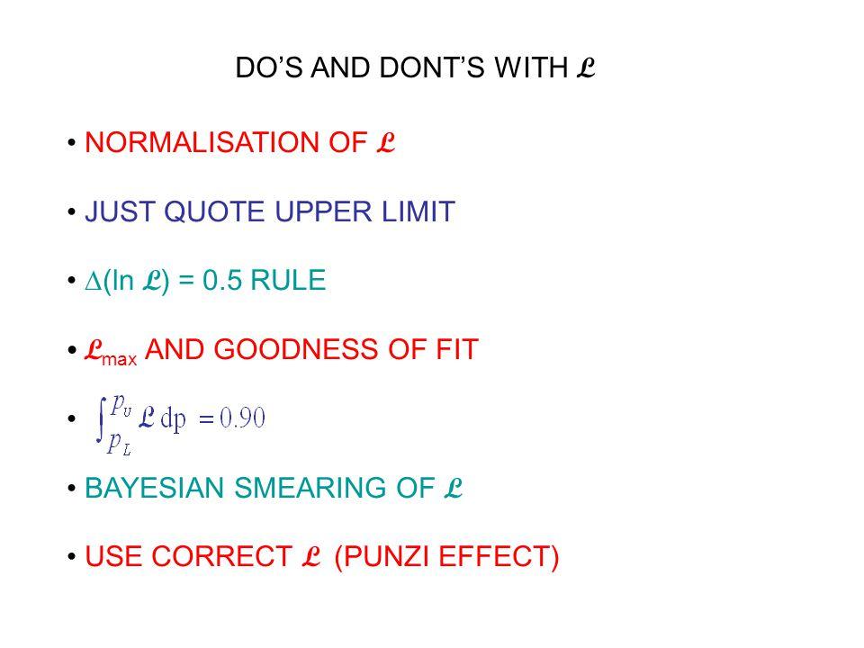 NORMALISATION OF L data param e.g.