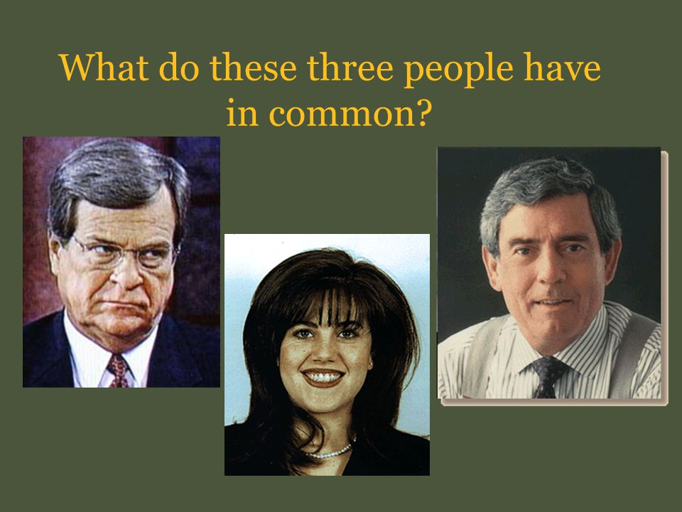 What do these three people have in common