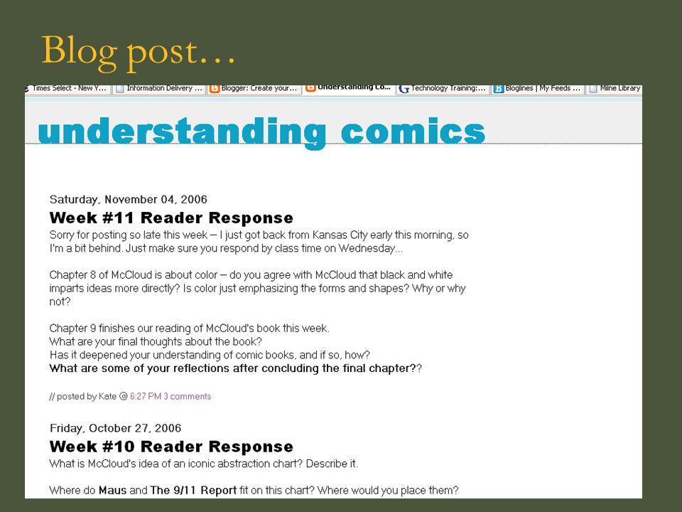 Blog post…