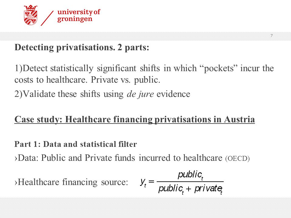 Detecting privatisations.