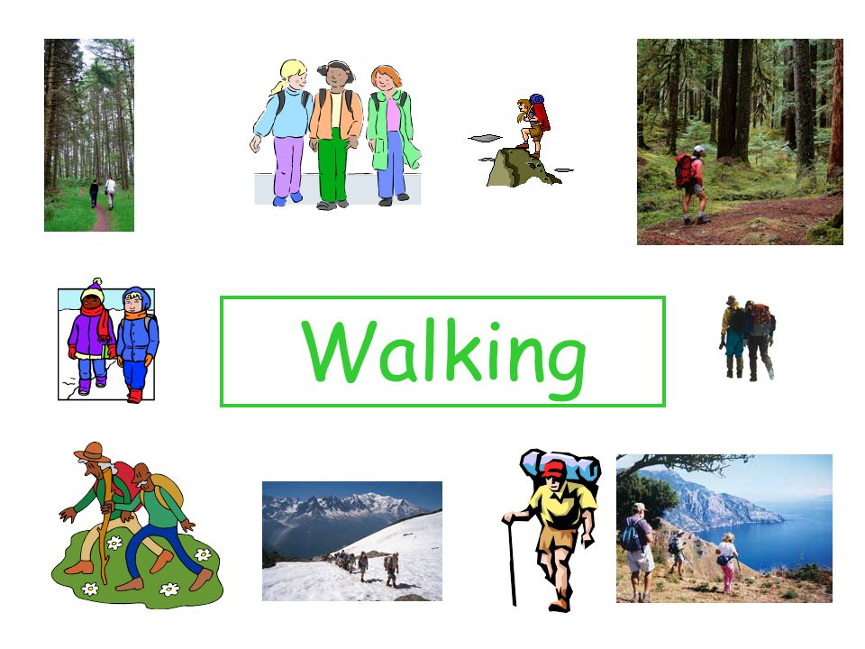 How does walking benefit my body.Discuss each of the pictures, what do each represent.