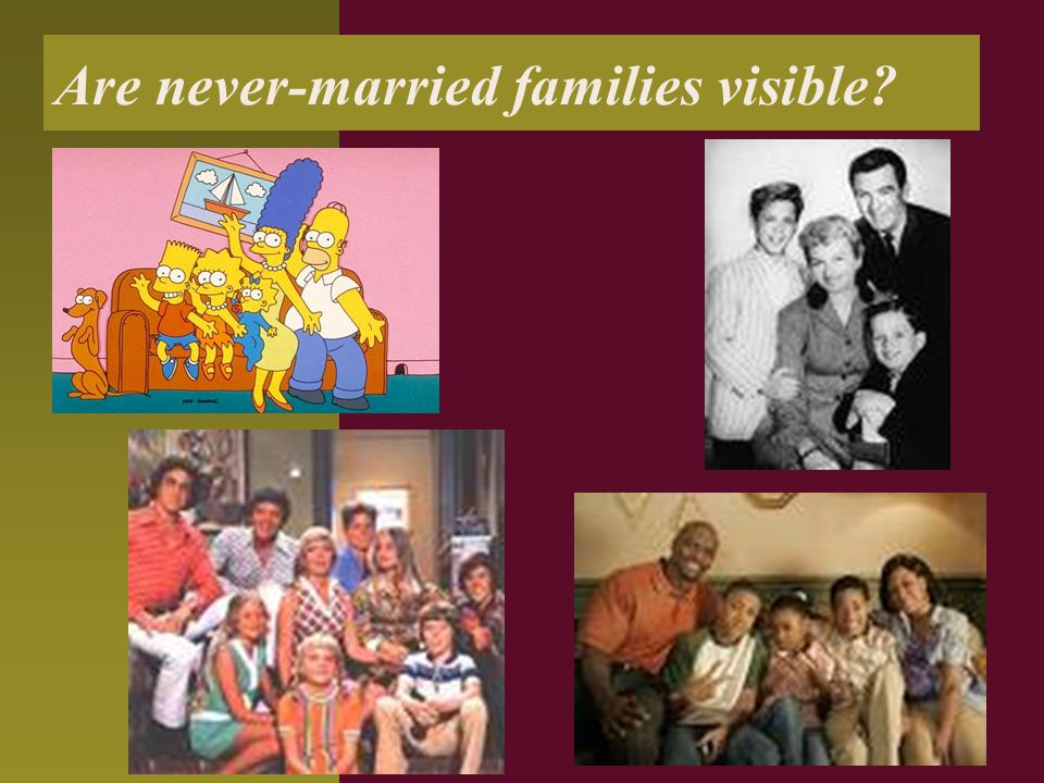 Are never-married families visible