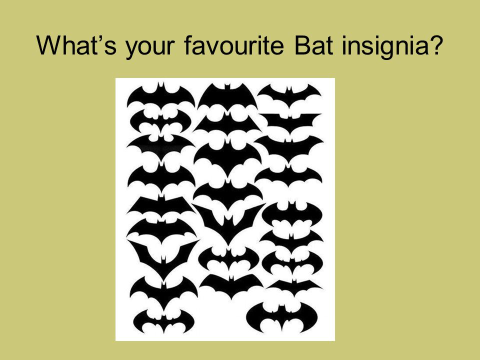 What's your favourite Bat insignia