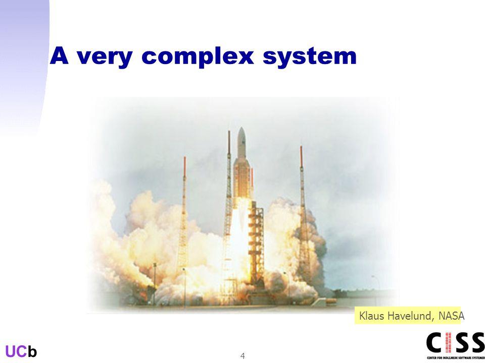 UCb 4 A very complex system Klaus Havelund, NASA