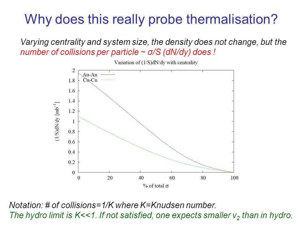 Why does this really probe thermalisation.