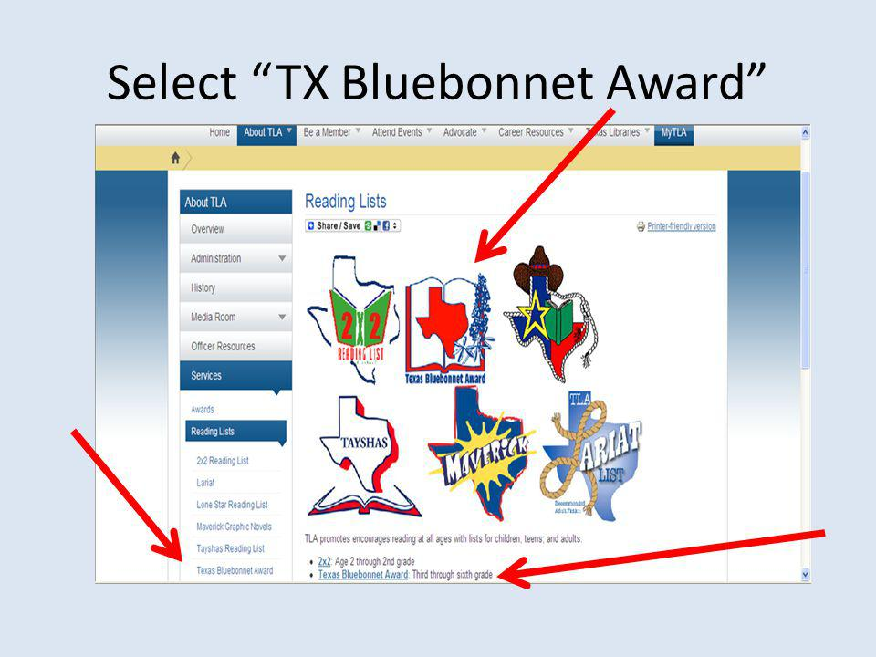 Select TX Bluebonnet Award