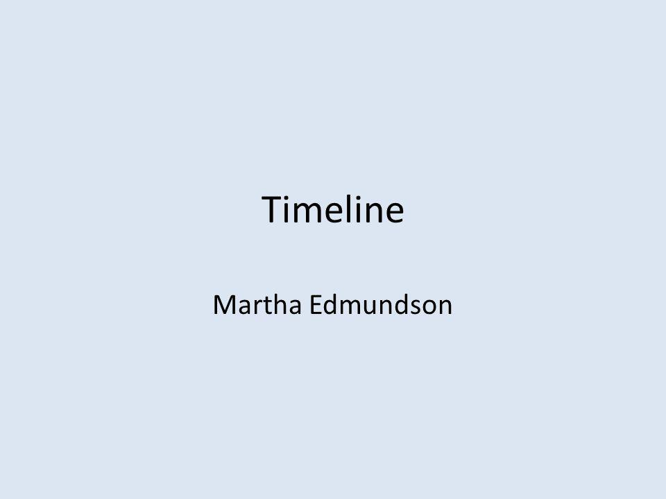 Timeline Martha Edmundson