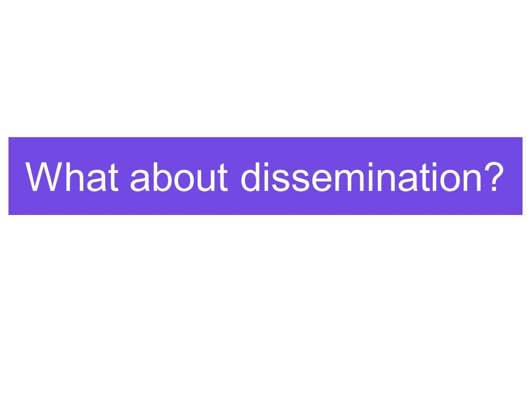 What about dissemination