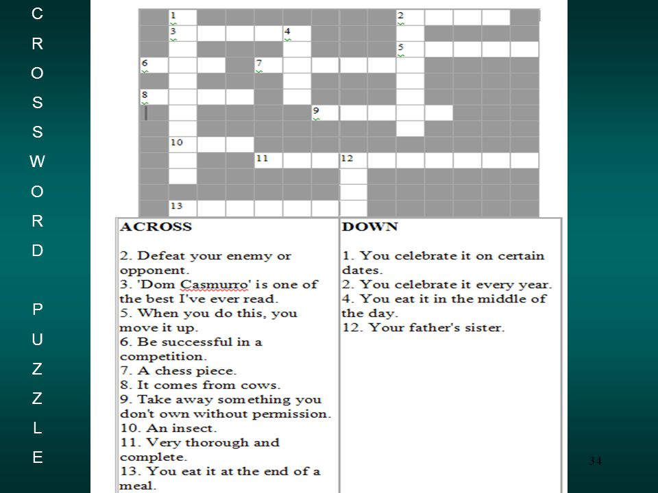 34 CROSSWORDPUZZLECROSSWORDPUZZLE