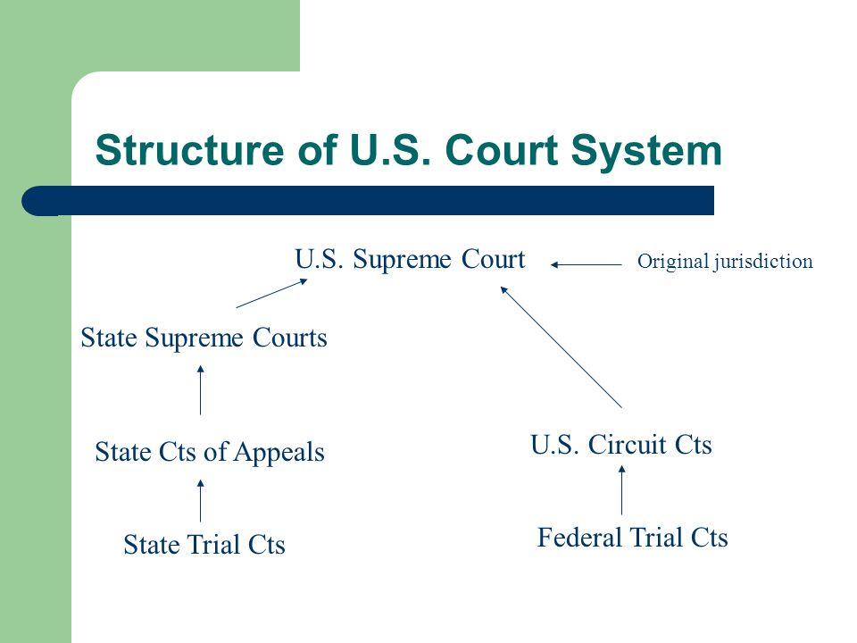 What Courts Do Resolve Disputes – Civil Cases – Criminal Cases Interpret Law – Regulations (from bureaucracy) – Statutes – Constitution – Judicial Review