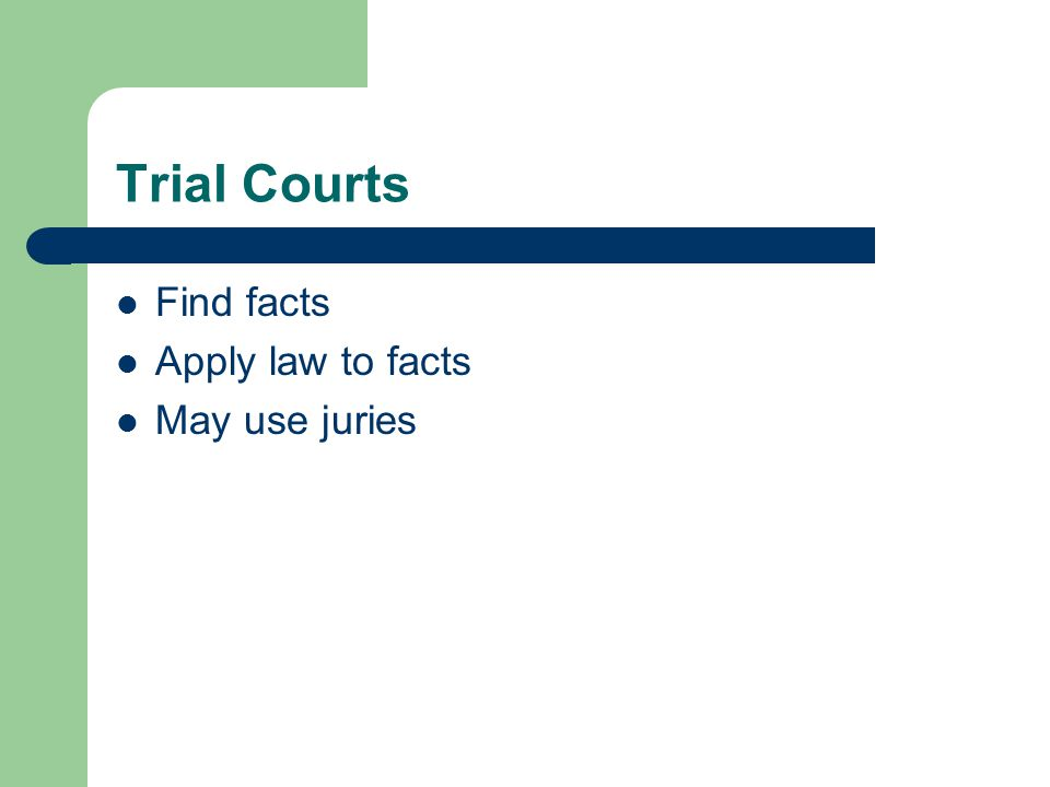 Appellate Courts Was the law correctly interpreted and applied.