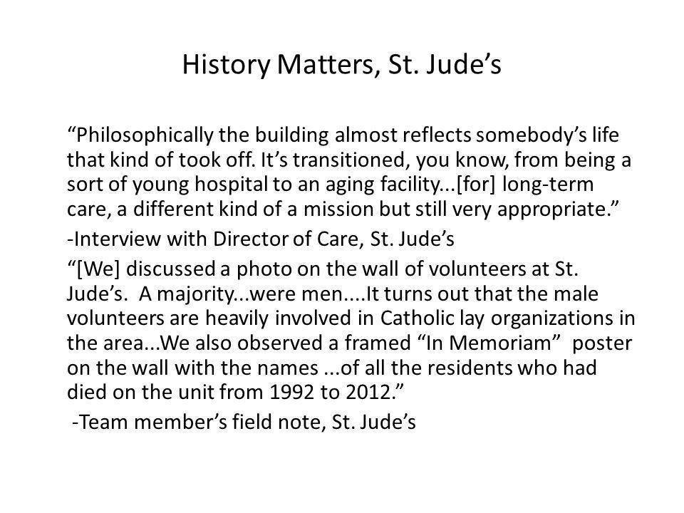 History Matters, St.