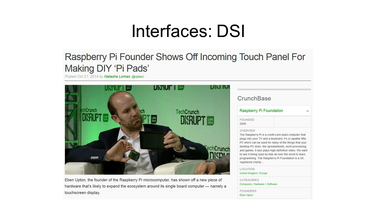 Interfaces: DSI