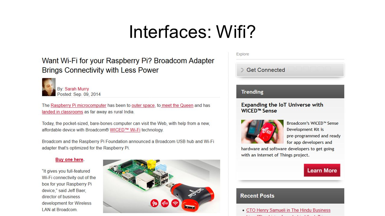Interfaces: Wifi?