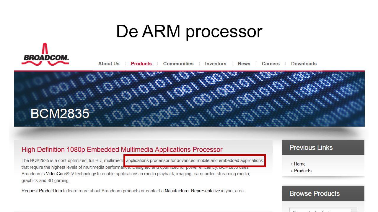De ARM processor