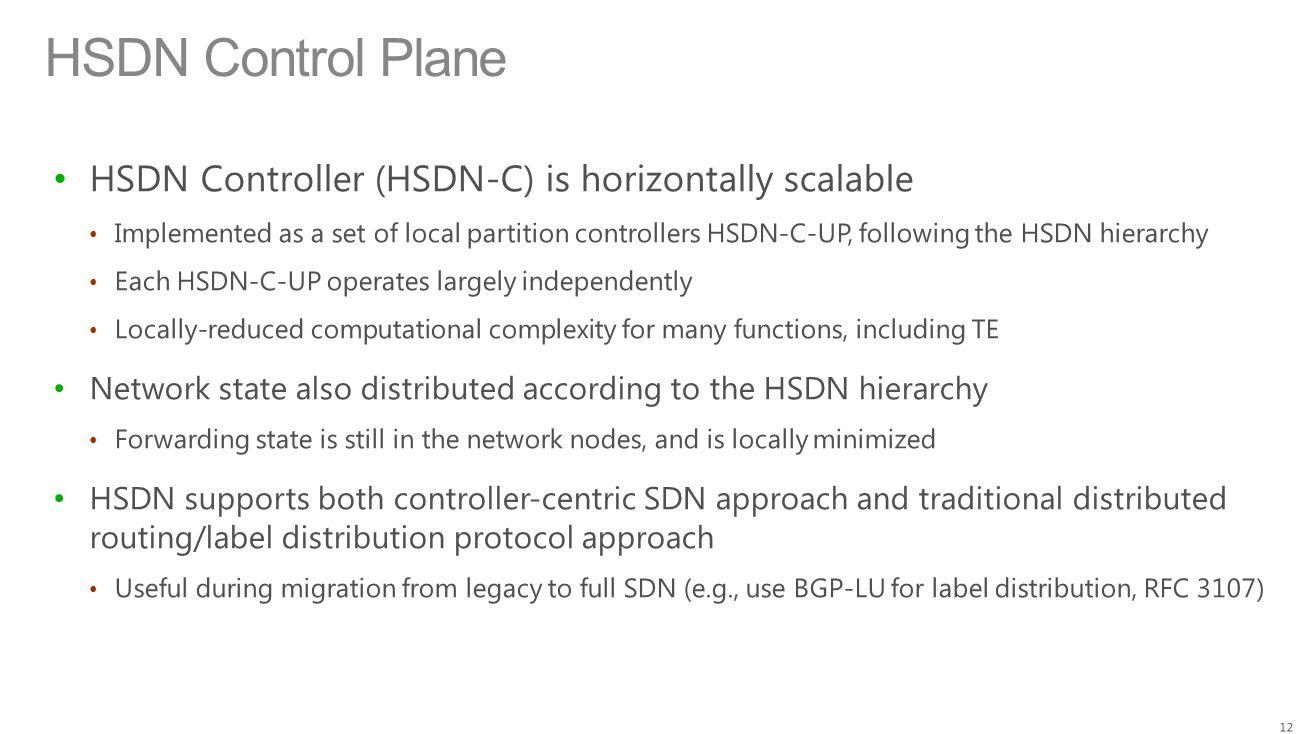 HSDN Control Plane