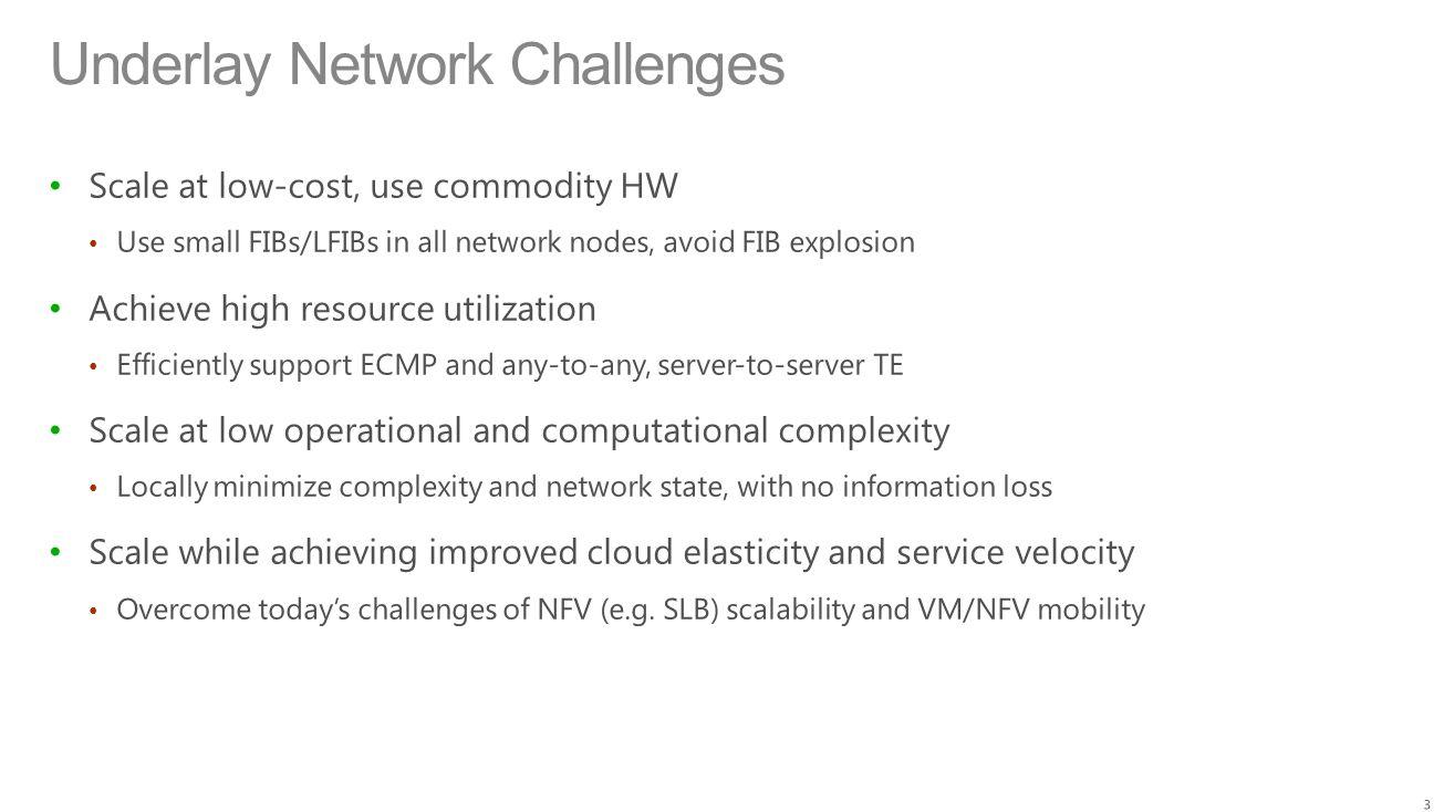 Underlay Network Challenges