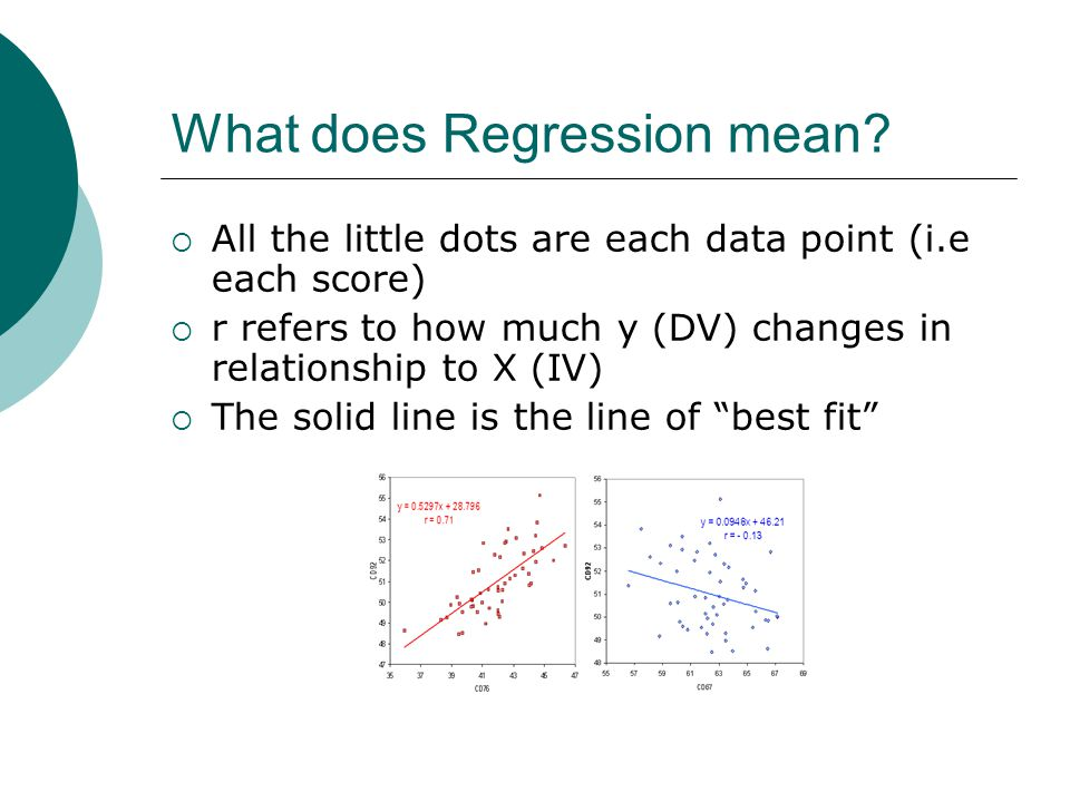 What does Regression mean.