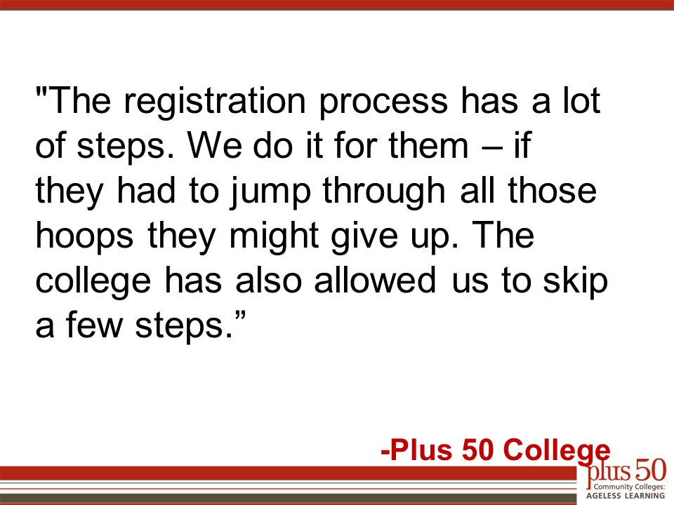 The registration process has a lot of steps.