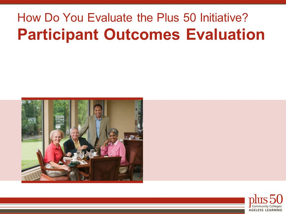 How Do You Evaluate the Plus 50 Initiative? Participant Outcomes Evaluation