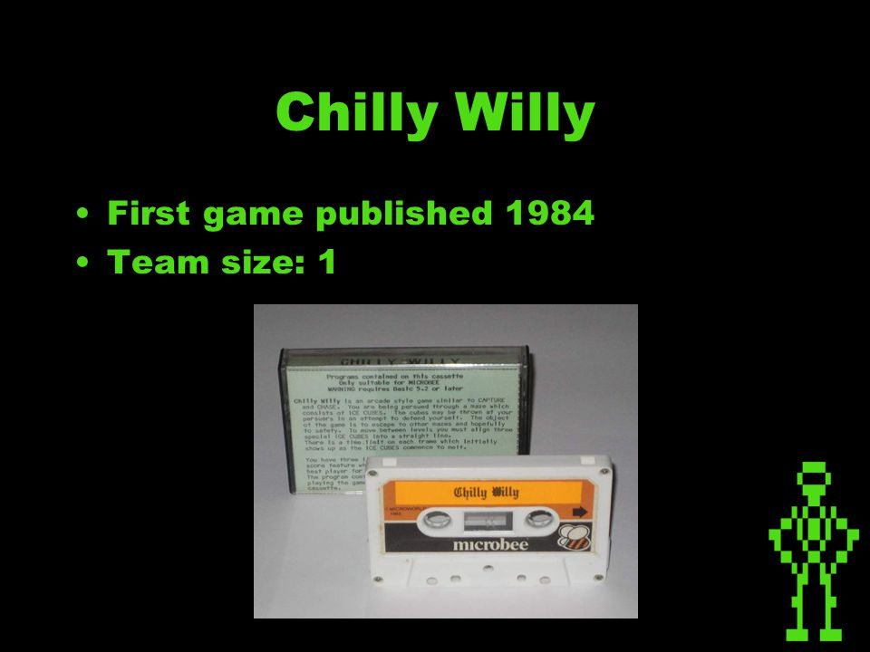 Chilly Willy First game published 1984 Team size: 1