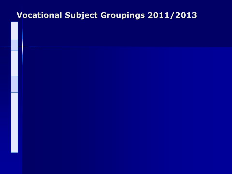 Vocational Subject Groupings 2011/2013