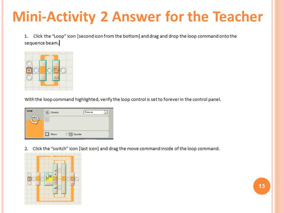 13 Mini-Activity 2 Answer for the Teacher