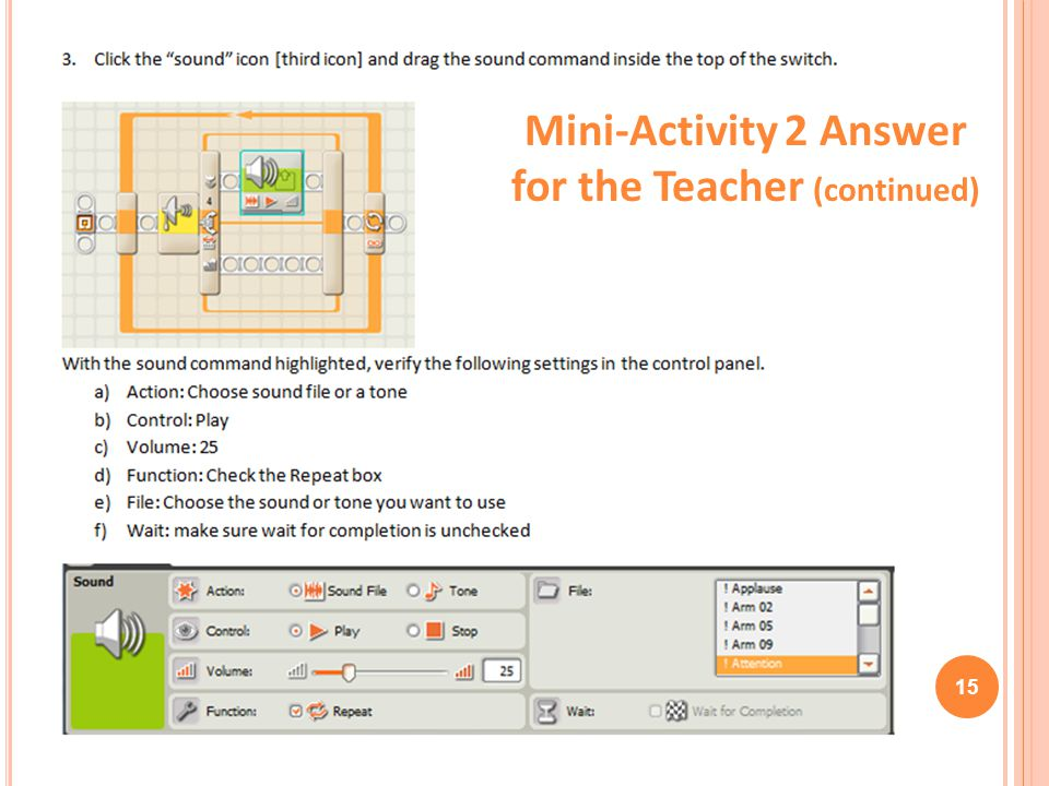 15 Mini-Activity 2 Answer for the Teacher (continued)