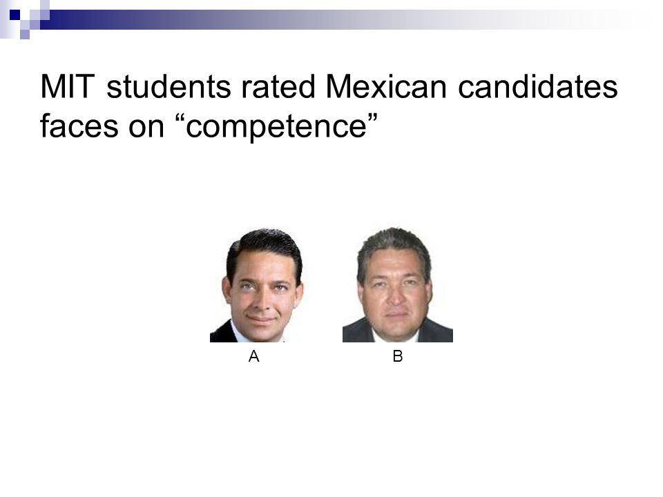 MIT students rated Mexican candidates faces on competence AB