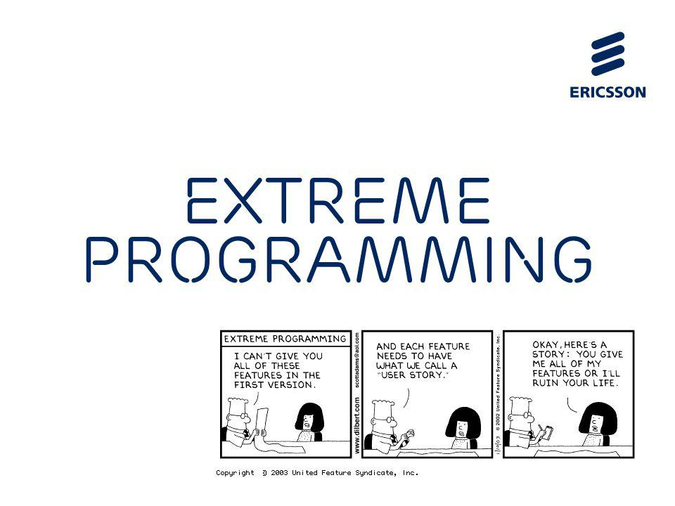 Slide title 70 pt CAPITALS Slide subtitle minimum 30 pt eXtreme Programming