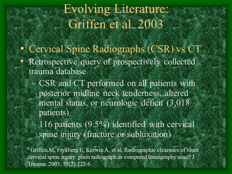 Evolving Literature: Griffen et al.