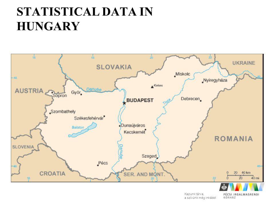 Kapunk tárva, a szívünk még inkább! STATISTICAL DATA IN HUNGARY