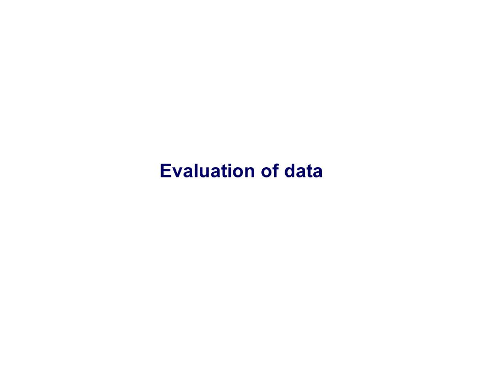 Evaluation of data