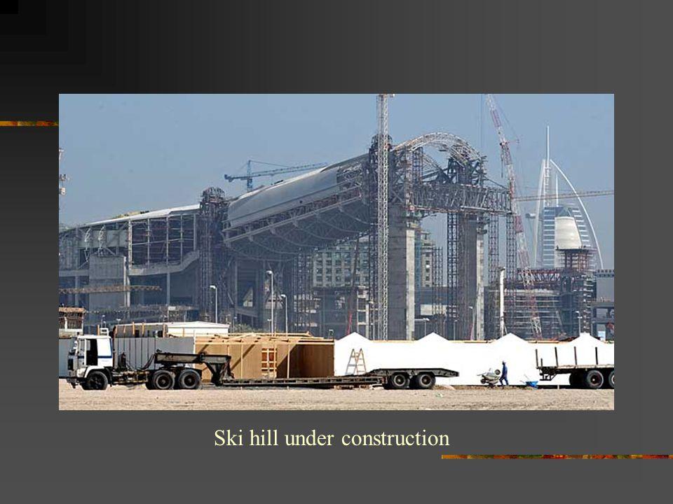 Ski hill under construction