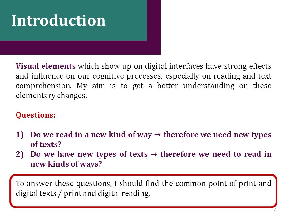 15 Conclusion Modified hypothesis: reading digital texts including visual elements is a non-linear kind of reading which CAN BE similar to reading comics.