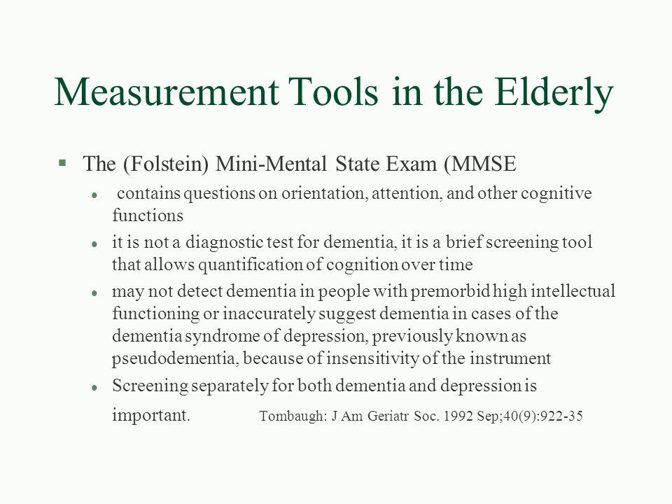Is it really dementia.