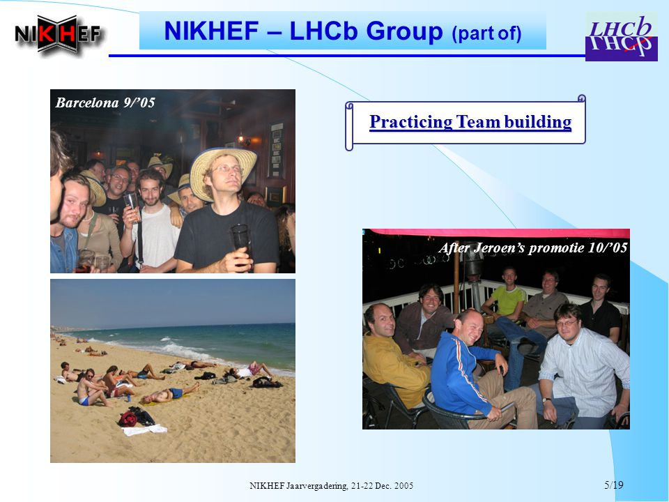 NIKHEF Jaarvergadering, 21-22 Dec.