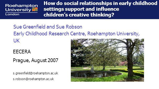 Froebel Research Fellowship Project, 'The Voice of the Child: Ownership and Autonomy in Early Learning' (2003-2008) David J.