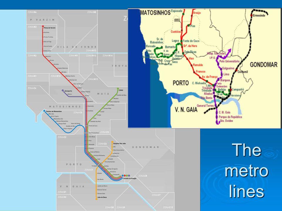 The metro lines