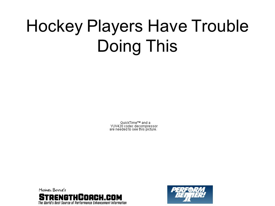 Hockey Players Have Trouble Doing This