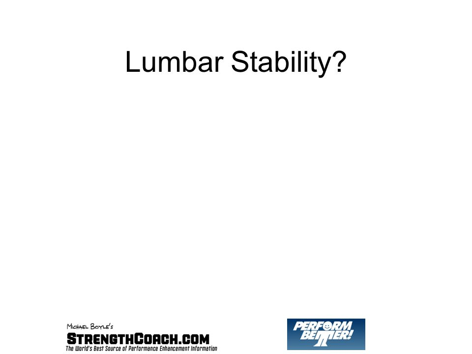 Lumbar Stability