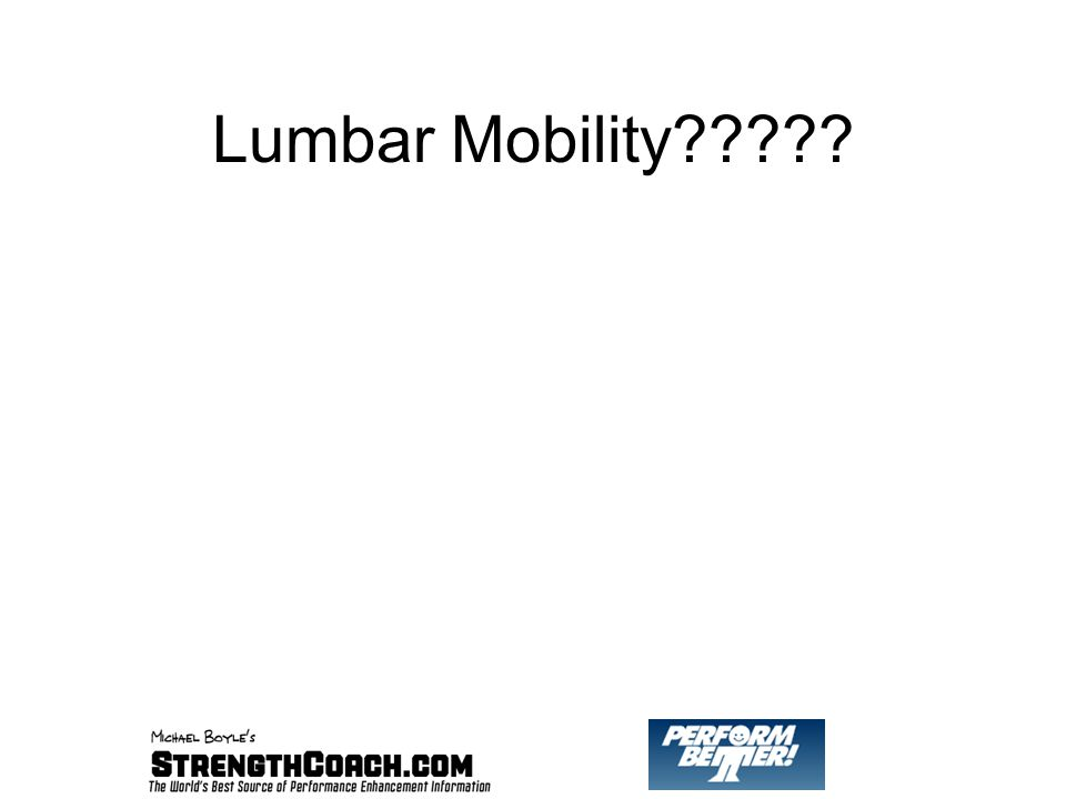 Lumbar Mobility