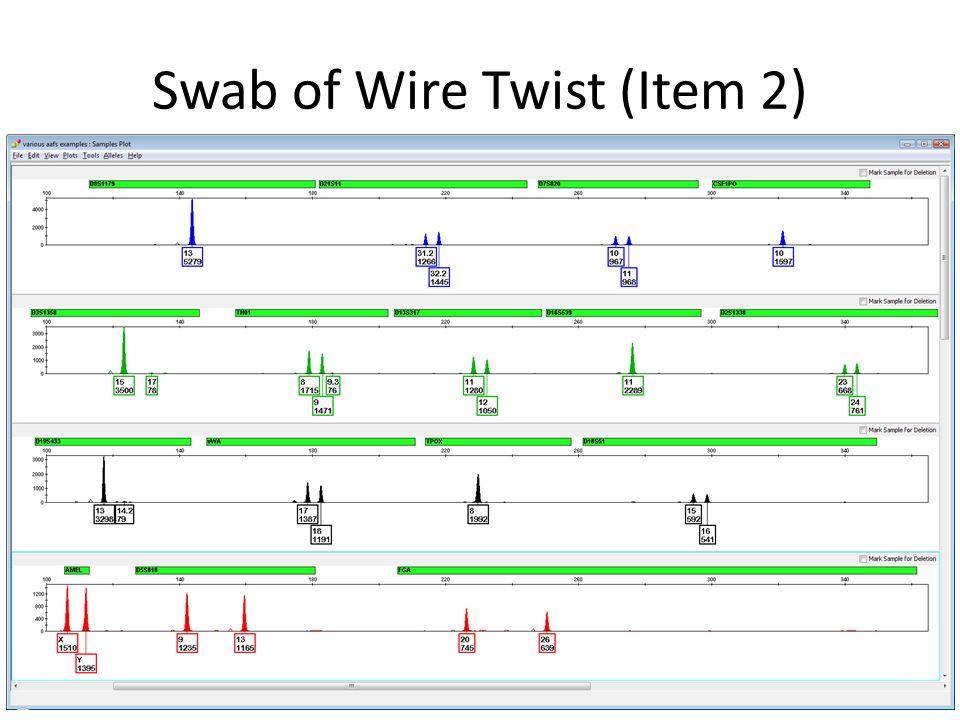 Swab of Wire Twist (Item 2)